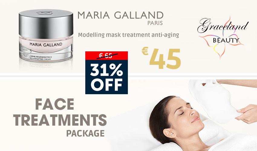 Maria Galland modelling mask treatment anti-